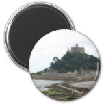 ST MICHAELS MOUNT CORNWALL 2 INCH ROUND MAGNET