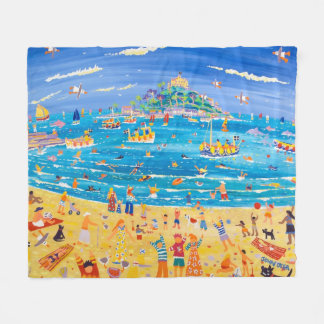 St Michael's Mount Fleece blanket by John Dyer