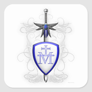 St. Michael's Sword Square Sticker