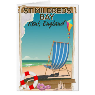 St Mildreds Bay Kent England travel poster Card