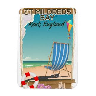 St Mildreds Bay Kent England travel poster Rectangular Photo Magnet