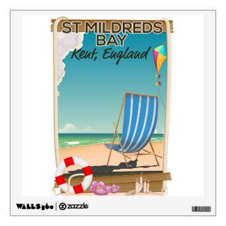 St Mildreds Bay Kent England travel poster Wall Sticker
