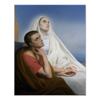 St. Monica and St.Augustine of Hippo Poster