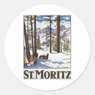 St.Moritz Round Sticker