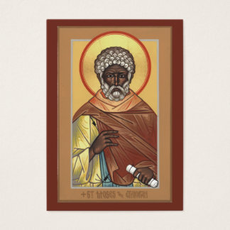 St. Moses the Ethiopian Mini Prayer Card
