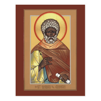 St Moses the Ethiopian Prayer Card Post Card