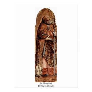 St. Nicholas By Carlo Crivelli Postcard