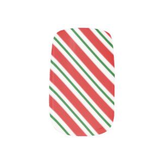 St. Nicholas Candy Cane Minx Nail Art