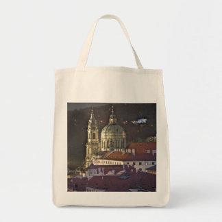 St.Nicholas Church Prague Night Tote Bag