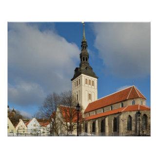 St. Nicholas' Church, Tallinn, Estonia Perfect Poster