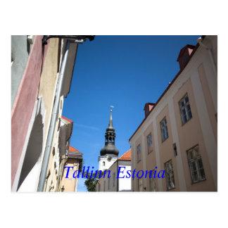 st nicholas church, Tallinn Estonia Postcard