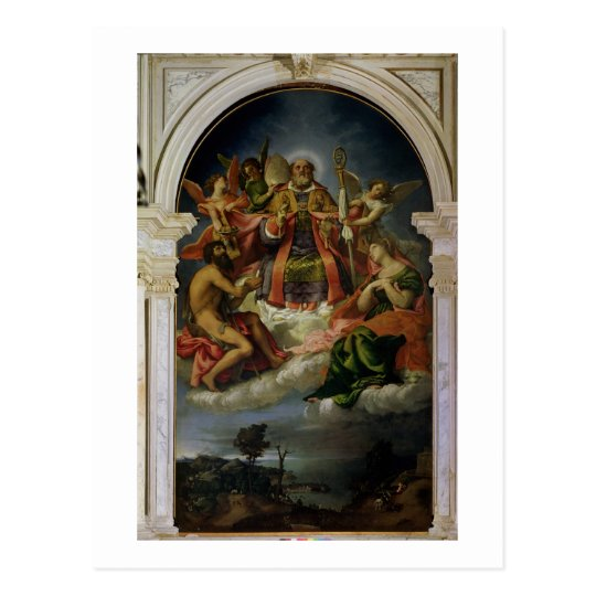 St. Nicholas in Glory with Saints Postcard