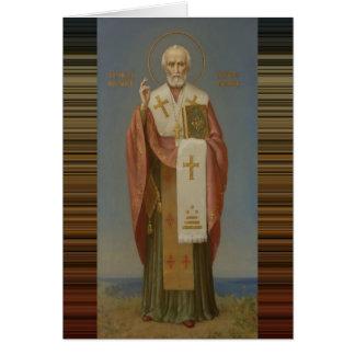St. Nicholas of Myra Bishop Card