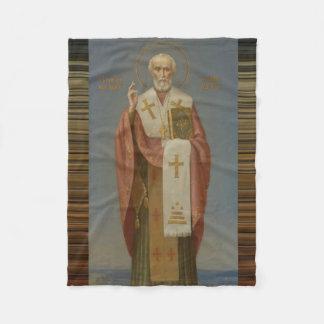 St. Nicholas of Myra Bishop Fleece Blanket
