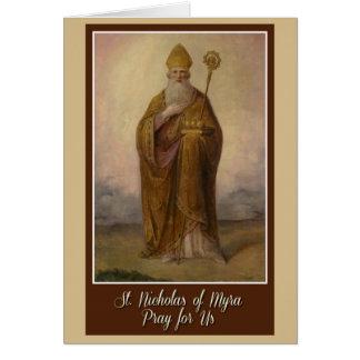 St. Nicholas of Myra Bishop Priest Christmas Card