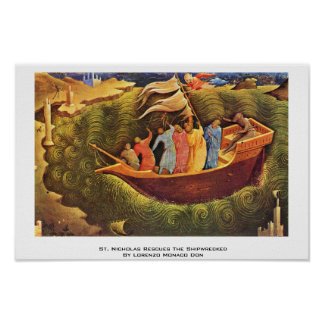 St. Nicholas Rescues The Shipwrecked Poster