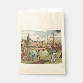 St. Nick's Day Dutch Sinterklaas Boat Vintage Favour Bag