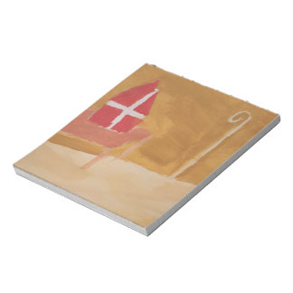 St. Nick's Day Dutch Sinterklaas  Watercolor Miter Notepad