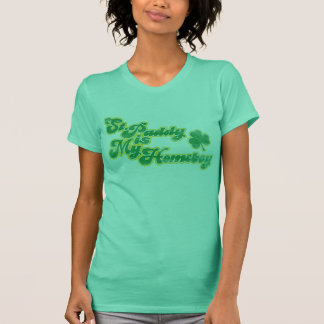 St. Paddy is My Homeboy Distressed Women's Shirt
