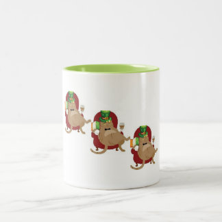 St. Paddy's Day Fat Cat Two-Tone Coffee Mug