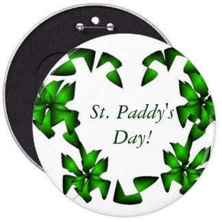 St. Paddy's Day Irish Heart Pinback Button