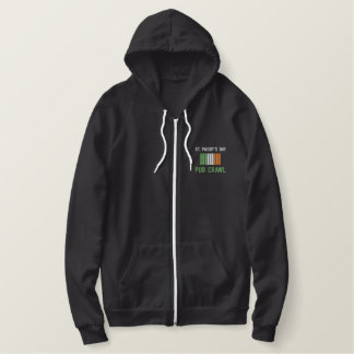 St. Paddy's Day Pub Crawl Embroidered Apparel Embroidered Hoodie