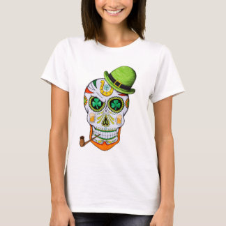 St Paddy's Day Sugar Skull T-Shirt