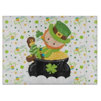St Paddy's Leprechaun Cutting Board
