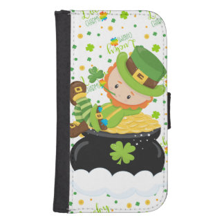 St Paddy's Leprechaun Samsung S4 Wallet Case