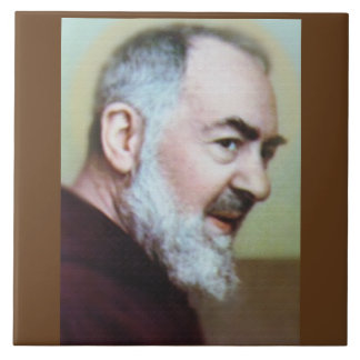 ST PADRE PIO DECORATIVE TILE