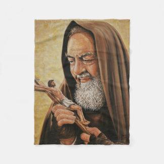 St. Padre Pio Priest Crucifix Altar Fleece Blanket