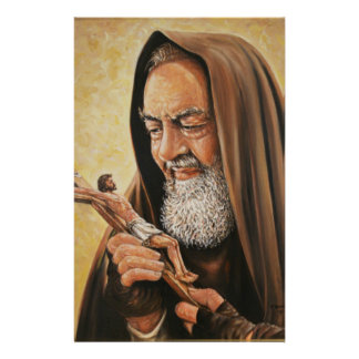 St. Padre Pio Priest Crucifix Stationery