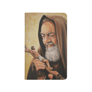 St. Padre Pio with Crucifix Journal