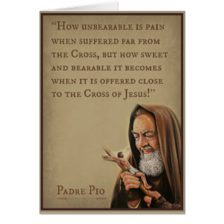 St. Padre Pio with Quote Card