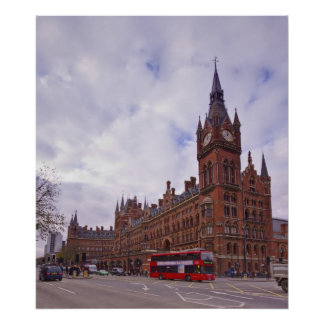 St Pancras International Station Poster