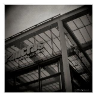 St Pancras Station London - Toy Camera - Diana Poster