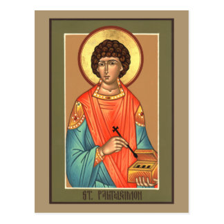 St. Panteleimon Prayer Card Postcard