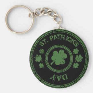 St. Pat Basic Round Button Keychain