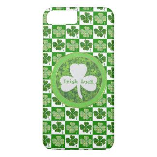 ST PATRIC+S DAY , IRISH LUCK, SHAMROCK LOGO iPhone 8 PLUS/7 PLUS CASE