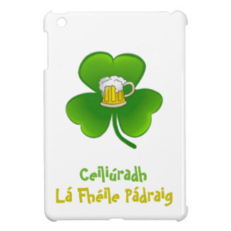 ST PATRIC+S DAY SHAMROCK +  BEER  IPAD COVER