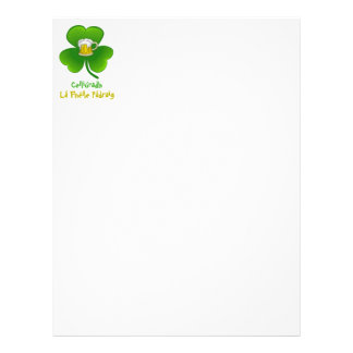 ST PATRIC+S DAY SHAMROCK +  BEER LETTERHEAD