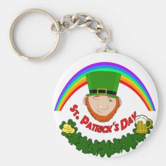 St. Patrick Basic Round Button Keychain