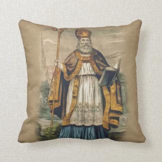 St. Patrick Bishop of Ireland Throw Pillow
