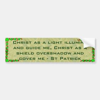 St Patrick bumper sticker Car Bumper Sticker