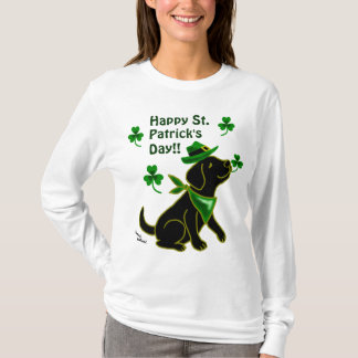 St. Patrick Day Black Labrador T-Shirt