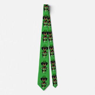 St. Patrick Day Dachshund Cartoon 4 Tie