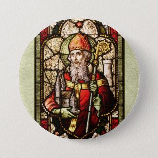 St. Patrick Digital Art Round Button Pin