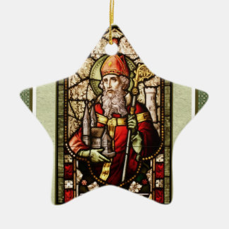 St. Patrick Digital Art Star Shamrock Ornament