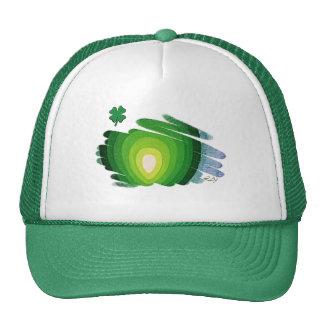 St Patrick Hat Heart Chakra Green on White Green