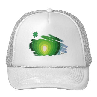 St Patrick Hat Shamrock Green Spirals